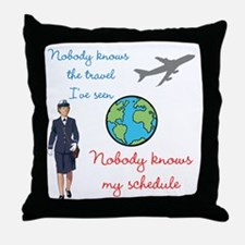 Nobody Knows The Travel I've Seen Throw Pillow