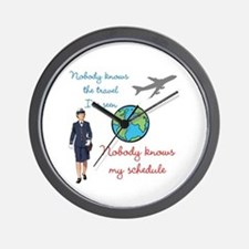 Nobody Knows The Travel I've Seen Wall Clock
