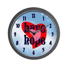 Have Hope (heart) Wall Clock