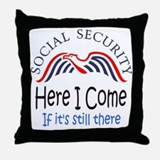 Cute Social security Throw Pillow