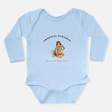 Tropical Paradise Island Girl 1 Long Sleeve Infant