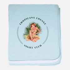 Tropicana Lounge Girl 1 baby blanket