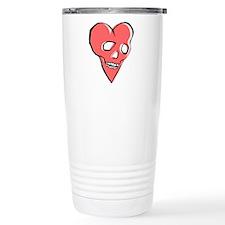Skull Heart Travel Mug
