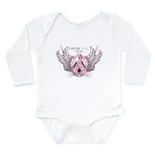 I Wear Pink for my Wife Long Sleeve Infant Bodysui