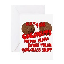 Coconut Bra Greeting Card