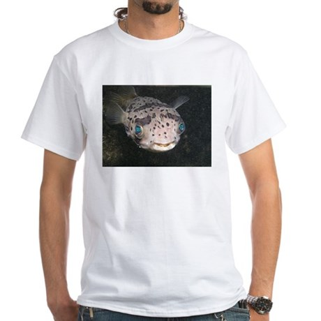 Puffer Fish White T-Shirt