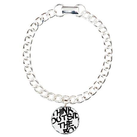 Think Outside the Box Charm Bracelet, One Charm