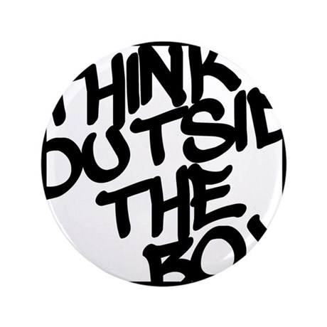 """Think Outside the Box 3.5"""" Button"""