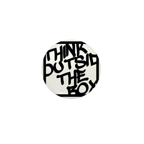 Think Outside the Box Mini Button (10 pack)
