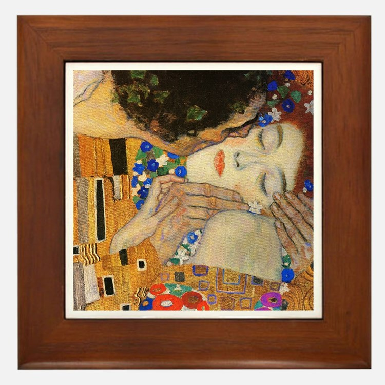 Klimt - The Kiss Framed Tile