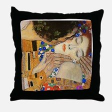 Klimt - The Kiss Throw Pillow