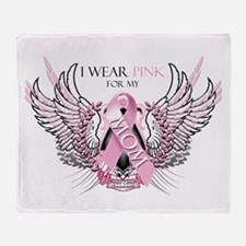 I Wear Pink for my Mom Throw Blanket