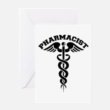 Pharmacist Caduceus Greeting Card