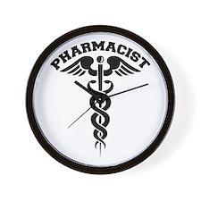 Pharmacist Caduceus Wall Clock