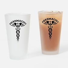 Pharmacist Caduceus Drinking Glass