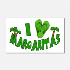 I love Margaritas Car Magnet 20 x 12