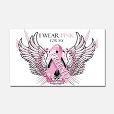 I Wear Pink for my Friend Car Magnet 20 x 12