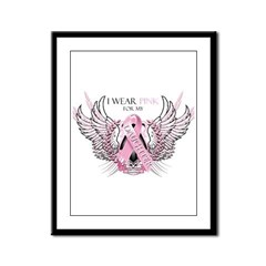 I Wear Pink for my Daughter Framed Panel Print