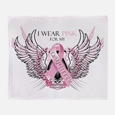 I Wear Pink for my Daughter Throw Blanket