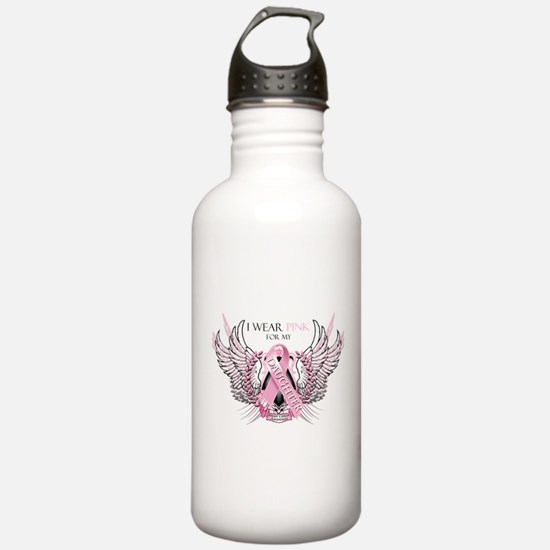 I Wear Pink for my Daughter Water Bottle