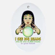 Mardi Gras Gypsy Ornament (Oval)
