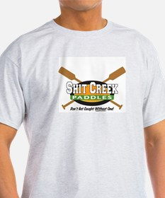 Shit Creek Paddles Ash Grey T-Shirt