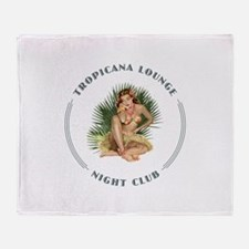 Tropicana Lounge Girl 1 Throw Blanket