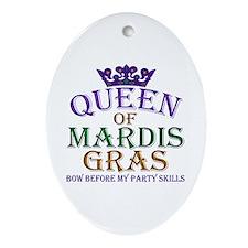 Queen of Mardis Gras Ornament (Oval)