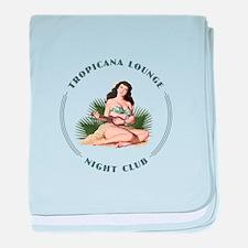 Tropicana Lounge Girl 3 baby blanket