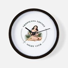 Tropicana Lounge Girl 3 Wall Clock