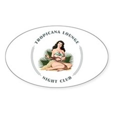 Tropicana Lounge Girl 3 Decal