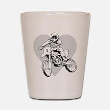 """I love dirt biking"" Shot Glass"