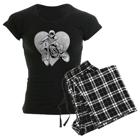 """""""I love dirt biking"""" Women's Dark Pajamas"""