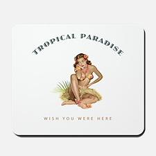 Tropical Paradise Island Girl Mousepad