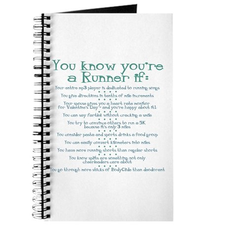 You Know You're a Runner If Journal