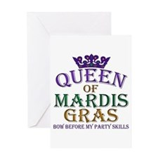 Queen of Mardis Gras Greeting Card