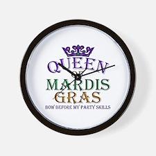 Queen of Mardis Gras Wall Clock