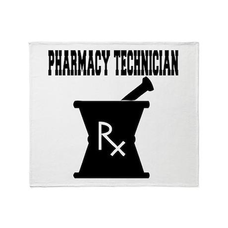 Pharmacy Technician Rx Throw Blanket