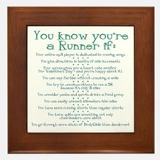 You Know You're a Runner If Framed Tile