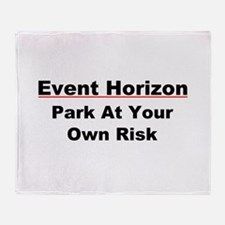 Event Horizon: Parking Risk Throw Blanket