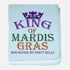 Mardis Gras King baby blanket