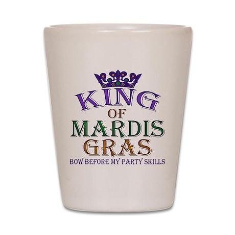 Mardis Gras King Shot Glass