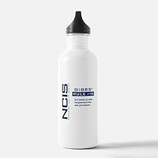 NCIS Gibbs' Rule #18 Water Bottle