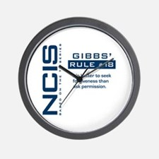 NCIS Gibbs' Rule #18 Wall Clock