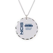 NCIS Gibbs' Rule #18 Necklace