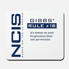 NCIS Gibbs' Rule #18 Mousepad