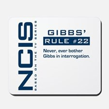 NCIS Gibbs' Rule #22 Mousepad
