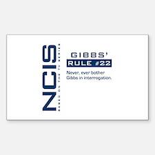 NCIS Gibbs' Rule #22 Sticker (Rectangle)
