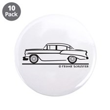 "1956 Chevy Sedan 210 3.5"" Button (10 pack)"