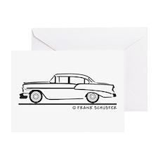 1956 Chevy Sedan 210 Greeting Card